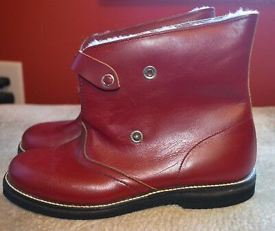 Shoes Vintage 1940-50s DS Peterman York PA Shoes Snap Red Boots NOS