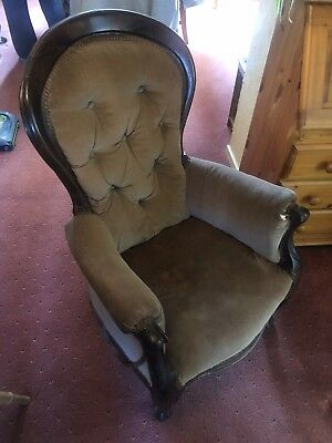 Antique Fireside Easy Chair
