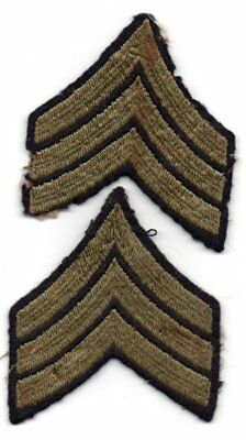 2 World War II US Army Sergeant SGT Rank Patches