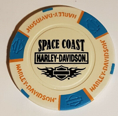 "1 Orig. Harley-Davidson Pokerchip ""Space Coast H-D, Cocoa Beach FL, USA"
