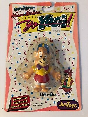 1991 JUSTOYS HANNA BARBERA YO YOGI! BENDEMS *BOO BOO BEAR* New In Package