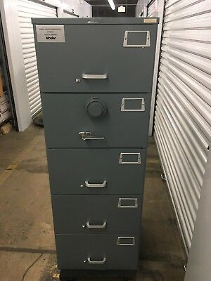 Mosler GSA Approved 5 Drawer File Cabinet with Digital Combination Lock