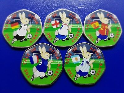Peter Rabbit 50p World Cup Football 2018 Beatrix Potter Collection 2017 Gift