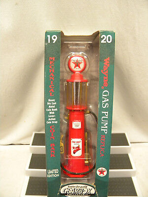 Nos Gearbox #11001 Limited Edition 1920 Texaco Wayne Gas Pump / Coin Bank