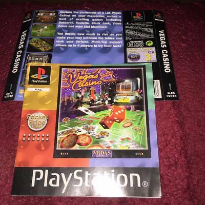 back artwork & manual for the vegas casino ps1 NO GAME DISC INCLUDED