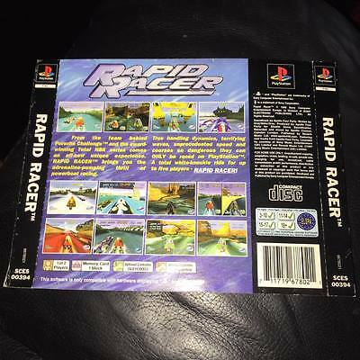 back artwork for rapid racer ps1 NO GAME DISC or case INCLUDED