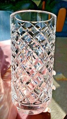 "Waterford Irish Crystal ALANA Criss Cross 6"" Vase EXCELLENT FAST SHIP CHRISTMAS"