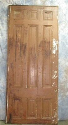 "8' 6"" x 44"" Vintage 9 Panel Wood Door Architectural Salvage Mansion Bed Frame"