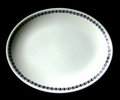 "Burleigh Cordon Bleu Platter English Ironstone Blue and White 12"" Oval Tray"