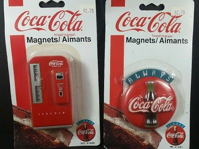 2 Vintage Coca Cola® Magnets New in package 1995. Collectibles.