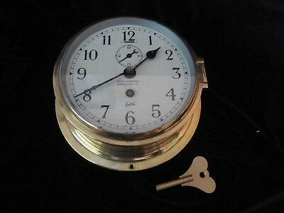 VINTAGE SESTREL NAUTICAL MARITIME MARINE CLOCK with KEY