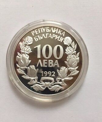 Bulgaria 100 Leva 1992 Silver Proof