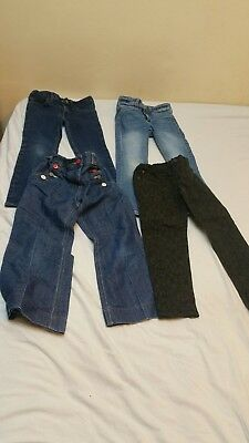 Girls aged 4 -5 jeans / trousers bundle H&M, Mothercare, George