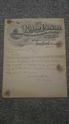 1919 memo rayner perkins canal carriers boat builders repairer to Coventry Canal