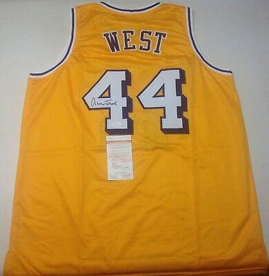 9776d32fa Los Angeles Lakers Jerry West Signed autographed Yellow Custom Jersey Jsa  Coa!