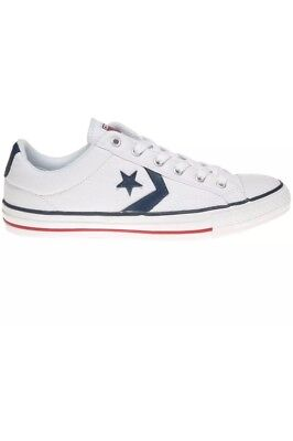 Converse Star Player Ox White Navy Mens Trainers | eBay