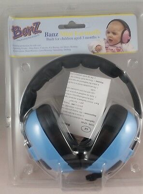 Banz Baby Hearing Protection Mini Earmuffs Blue for Children Age 3 Months +