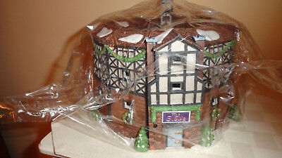Department 56 OLD GLOBE THEATRE SET - 4 Dickens Historical Landmark 58501