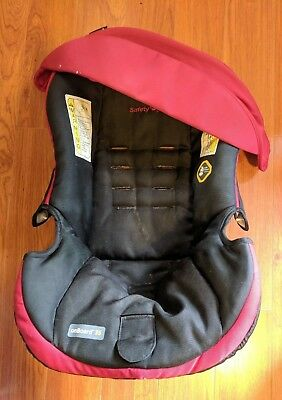 Safety 1st OnBoard 35 Infant Car Seat Cover Canopy Set Black Red Fabric Part