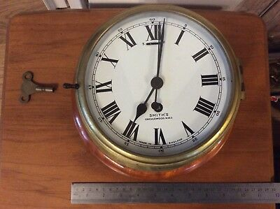 Smiths Coventry Astral Ships Clock, Enamel Dial, Working Order