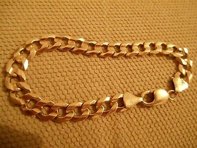 Nice Fashion (19.5 Grams) Fully Hallmarked Solid 9Ct Gold Curb Bracelet (8 Inch)
