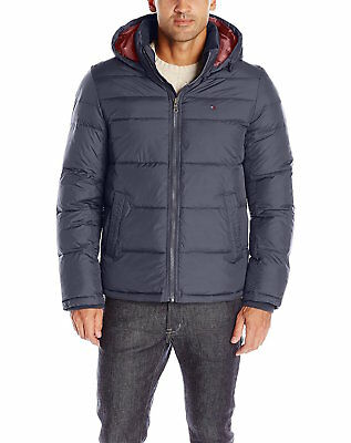 Tommy Hilfiger Men's Classic Hooded Puffer Jacket Style 156An122 Size S-Xxl