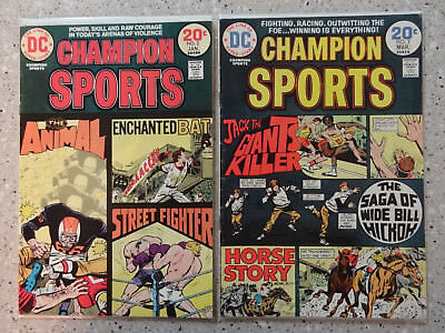 Champion Sports #2 & #3 - 2 Comic Lot  (DC Comics, 1973 / 1974)