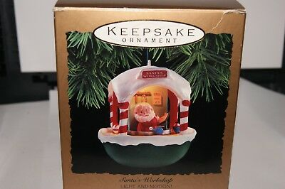 "Hallmark 1993 Magic "" Santa's Workshop"" Light & Motion Christmas Ornament NIB"
