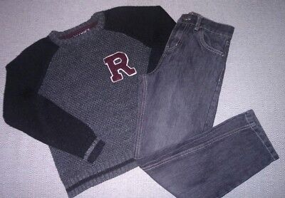 Boys Rebel & Denim co Jumper And Jeans Outfit Aged 9-10 Years