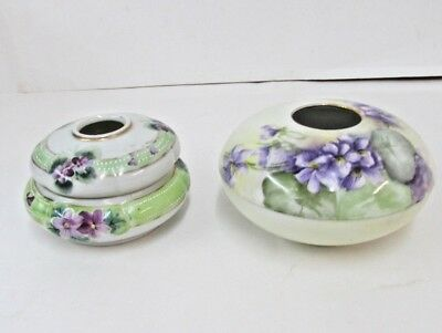 Vintage Antique Hand Painted Porcelain Hair Receiver Rs Prussia