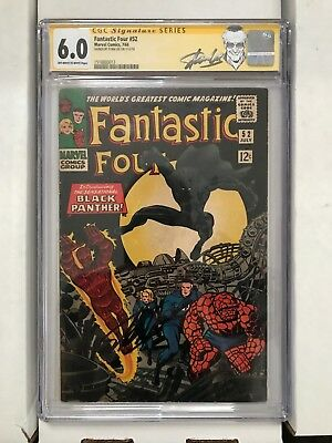 Fantastic Four #52 Marvel 1st appearance Black Panther Signed Stan Lee CGC 6.0