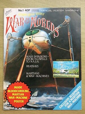 WAR of the WORLDS Official Poster Magazine ~ Number 1 ~ 1978 ~ VERY RARE