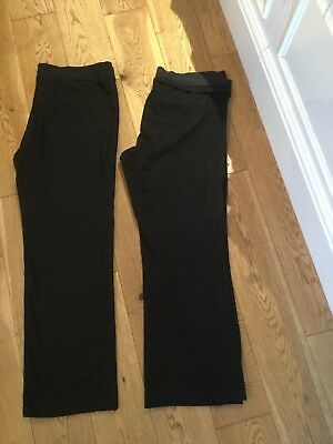 Black Work Maternity Trousers X 2 Size  14