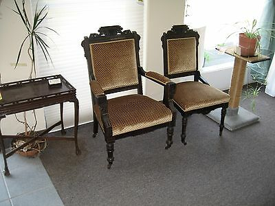 Antique Furniture A Pair Of Victorian East Lake Chairs For Sale