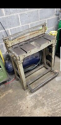 Rhodes foot operated 2ft metal cutting Guillotine shear treadle