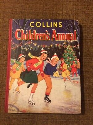 Vintage Collins childrens annual Christmas 1957