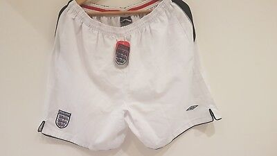 Umbro England football shorts XXL unworn and with label attached