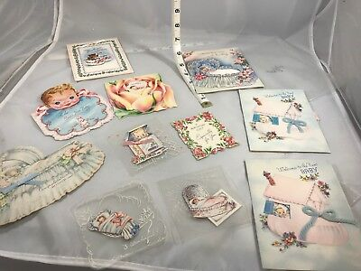 Vintage Baby Cards - Great Graphics - Must See to Appreciate