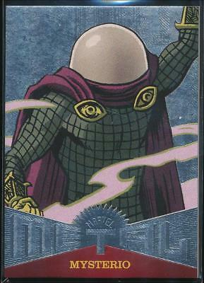 2017 Fleer Ultra Spider-Man Marvel Metal Trading Card #MM39 Mysterio