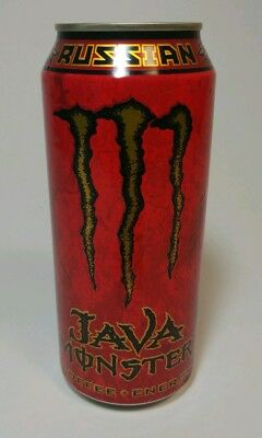Java Monster Russian Coffee+Energy Drink 15oz Can - Full/Unopened/Discontinued