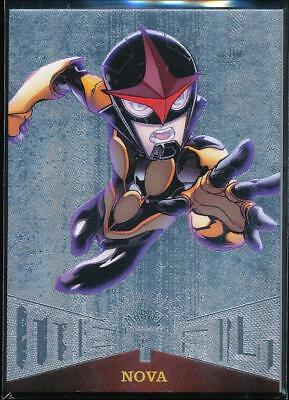 2017 Fleer Ultra Spider-Man Marvel Metal Trading Card #MM41 Nova