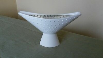 Vintage Hornsea Pottery White Anvil Vase No 355 By Clappison With Insert c1960s