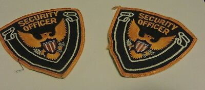 Retired Patch: Security Officer Blue Background, Gold Outlines