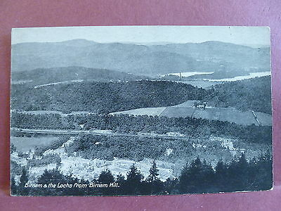 Old Postcard Birnam & The Lochs from Birnam Hill UK Scotland