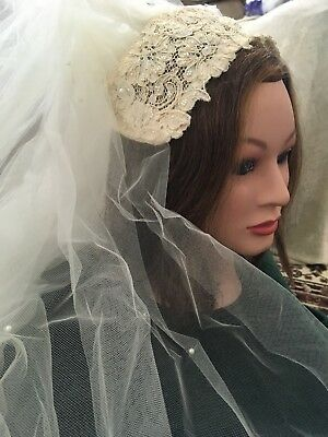 Vintage Beaded Wedding Veil