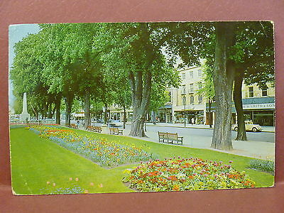 Old Postcard UK Cheltenham Gloucestershire Long Garden & Promenade