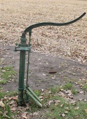 Well Water Pump Cast Iron Cistern Pitcher Windmill Farm Garden Green Mercer aL