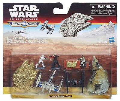 Star Wars The Force Awakens Micro Machines Gold Series Pack Battle For Jakku