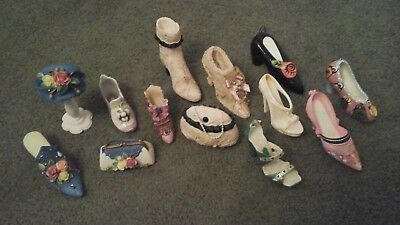 LOT of 14~MINIATURE SHOES+ Just The Right Shoe~Step Into Elegance by Rain++