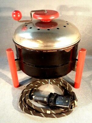c1940 KWIK WAY ELECTRIC POPCORN POPPER, CLASSIC DECO DESIGN, WORKS